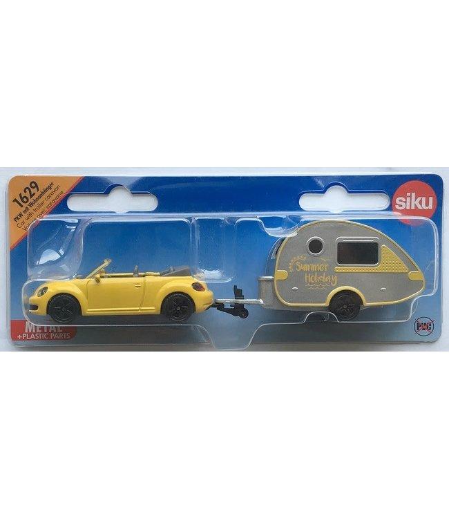 Siku VW New Beetle Met Caravan