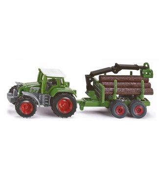 Siku Siku Tractor met Bomentransporter