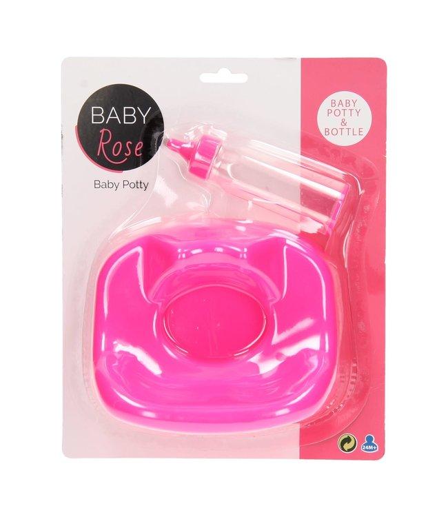 Johntoy Baby Rose babypotje met zuigfles 3+