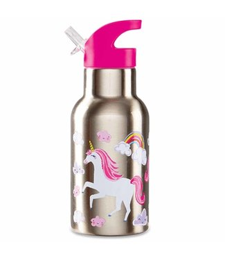 Crocodile Creek Crocodile Creek On the Go Stainless Steel Bottle Unicorn