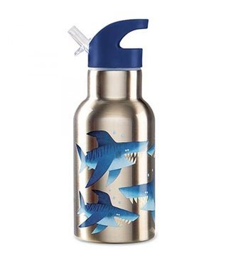 Crocodile Creek Crocodile Creek On the Go Stainless Steel Bottle Shark
