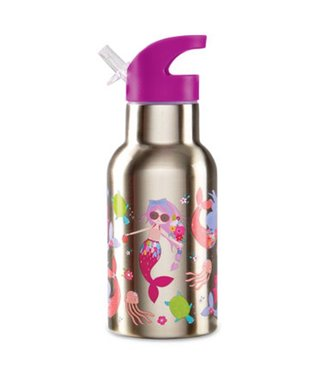 Crocodile Creek Crocodile Creek On the Go Stainless Steel Bottle Mermaids