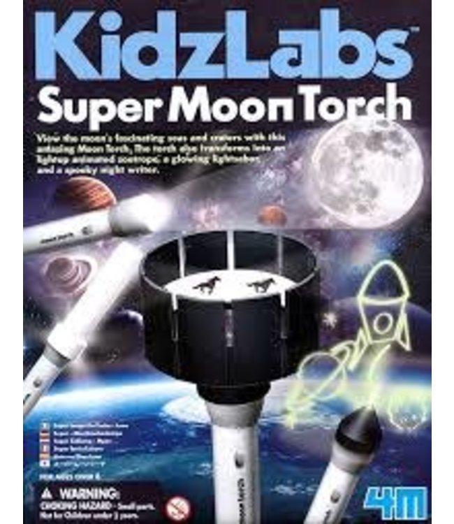 4M| KidzLabs | Super Zaklamp Maan | 5+