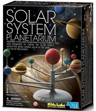 4M 4M KidzLabs Space / Bouwset Planetenstelsel Glow in the Dark 8+