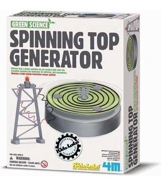 4M 4M Kidzlabs Green Science Spinning Top Generator 8+