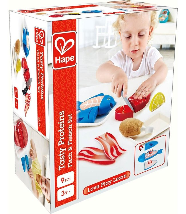 Hape Tasty Proteins Meat and Fish 9 pcs  3+