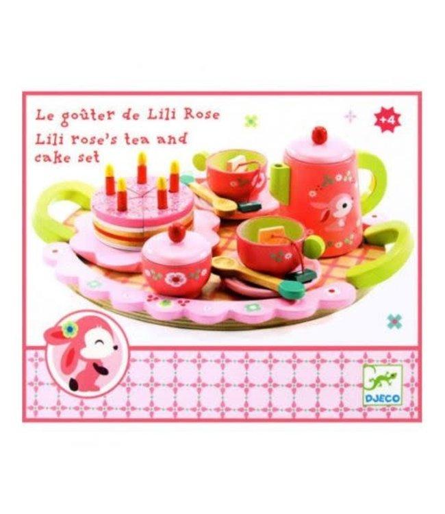 Djeco | Houten Theeservies | Lili Rose's Tea and Cake Set | 3+