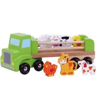 Simply For Kids Simply For Kids Vrachtwagen met Boerderijdieren +18 mnd