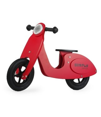 Simply For Kids Simply For Kids Tweewieler Loopfiets Scooter Red +18 mnd