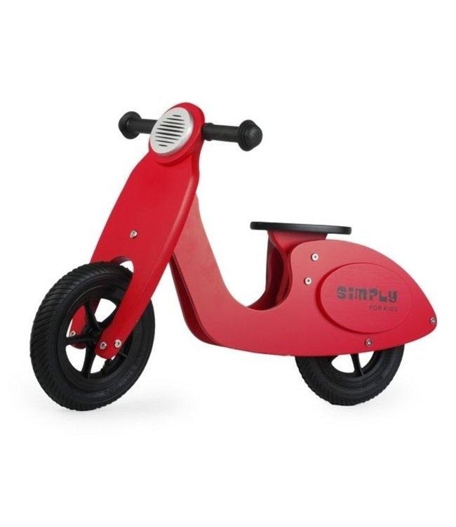 Simply For Kids Tweewieler Loopfiets Scooter Red +18 mnd