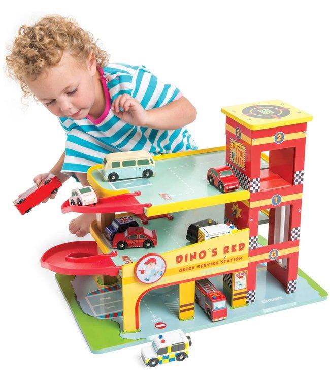 Le Toy Van Dino's  Auto Garage 3+
