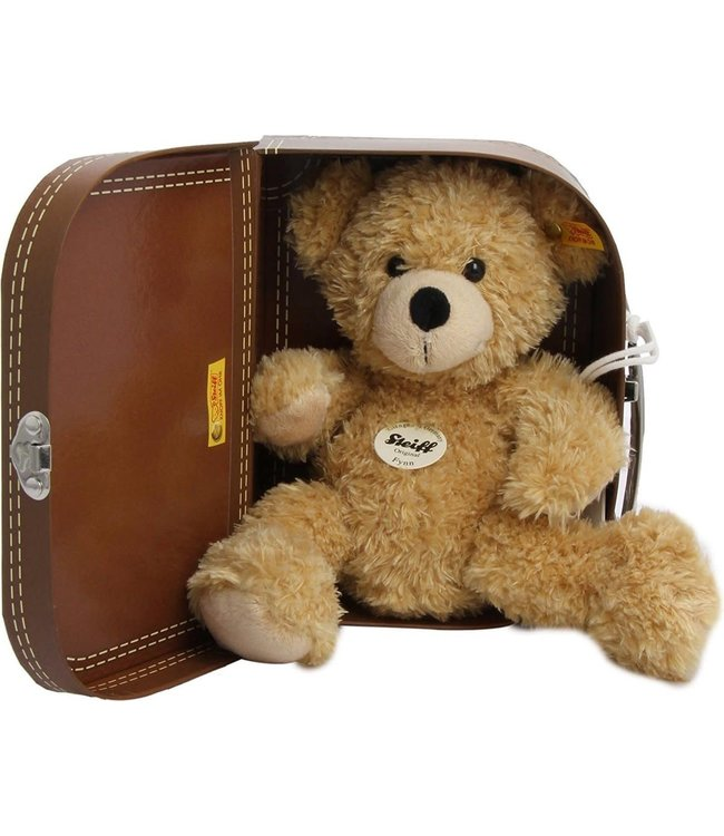 Steiff Fyn Teddy Bear in Suitcase, beige  28 cm