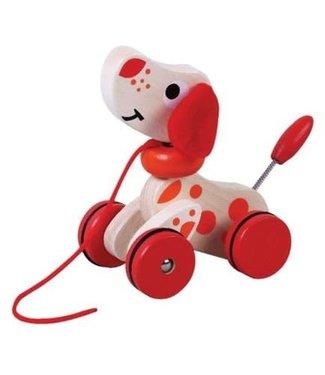 Simply For Kids Simply For Kids Houten Trekfiguur Puppy 16 cm +18 mnd