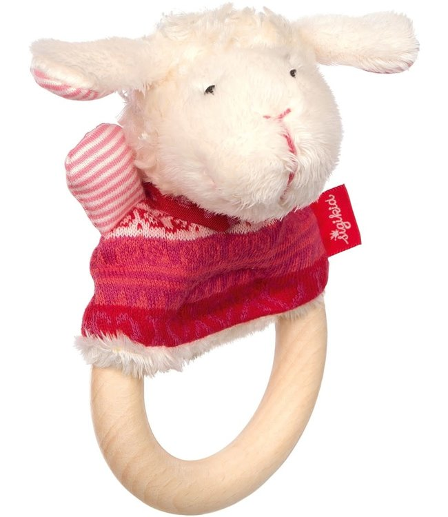 Sigikid Wooden Grasp Ring Sheep Schnuggi 15 cm 0+