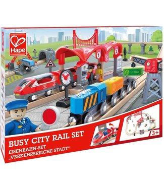 Hape Hape Busy City Rail Set 51 dlg 3+
