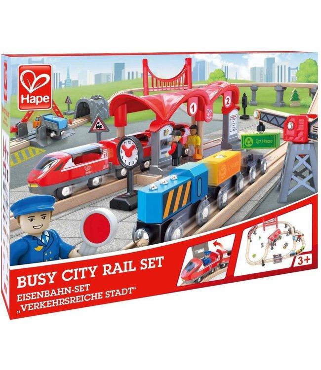 Hape Busy City Rail Set 51 dlg 3+