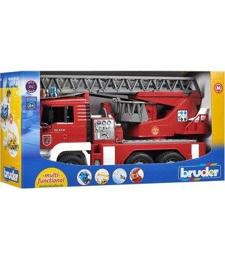 Bruder Bruder | MAN | Brandweer | Ladderwagen met Licht en Geluid | 4+