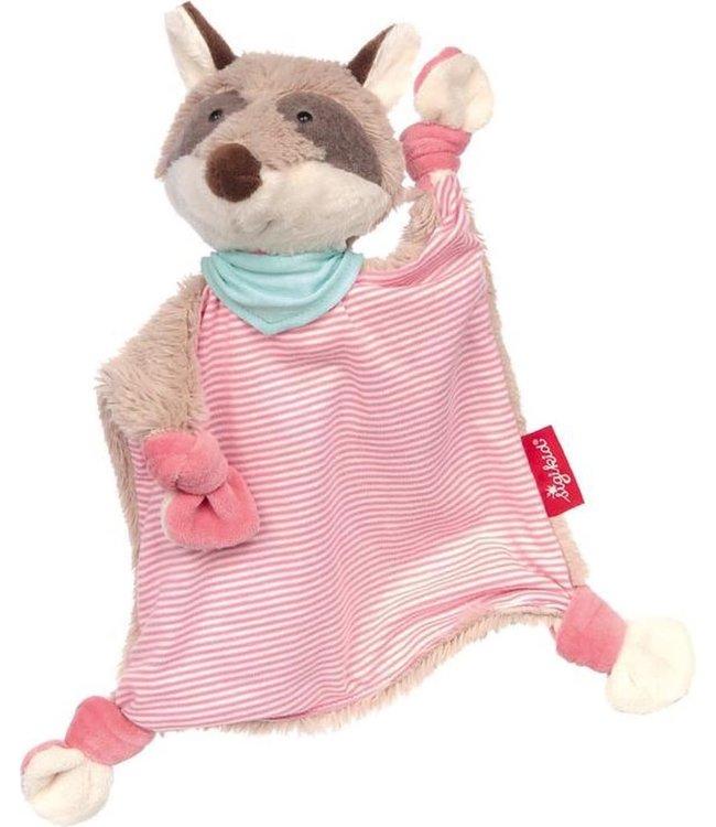 Sigikid Knuffeldoek Wasbeer Roze 25 cm 0+