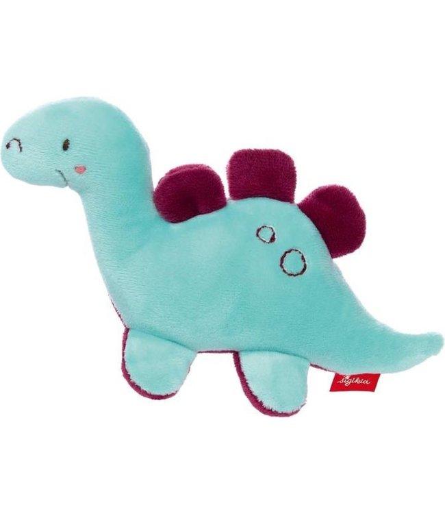 Sigikid Grasp Toy Rattle Dino Blauw Red Stars 12 cm 0+