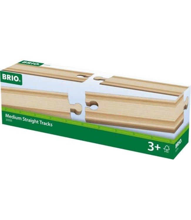 Brio Houten Treinbaan Rechte Rails Medium 4 x 144 mm  3+