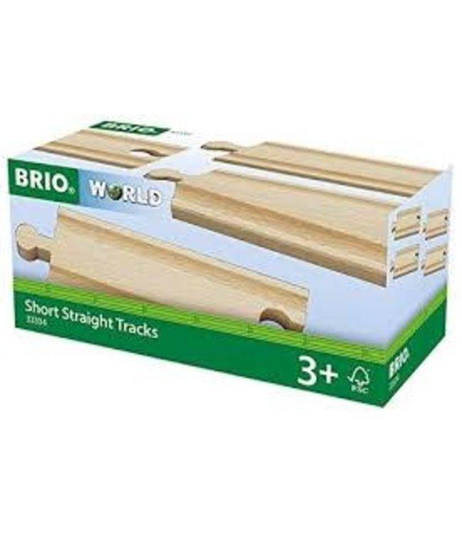 Brio Houten Treinbaan Rechte Rails Kort 4 x 108 mm  3+