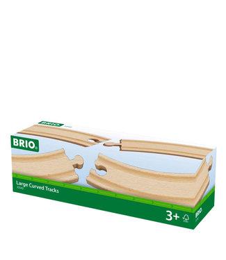 Brio Brio Houten Treinbaan Rails Lange Bochten 4 x 170 mm 3+