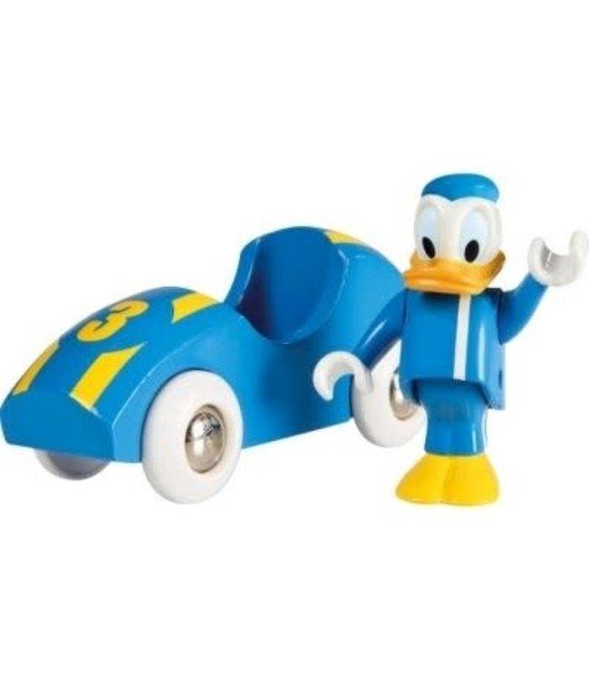 BRIO - Donald  And Race Car incl stukje Rails 3+
