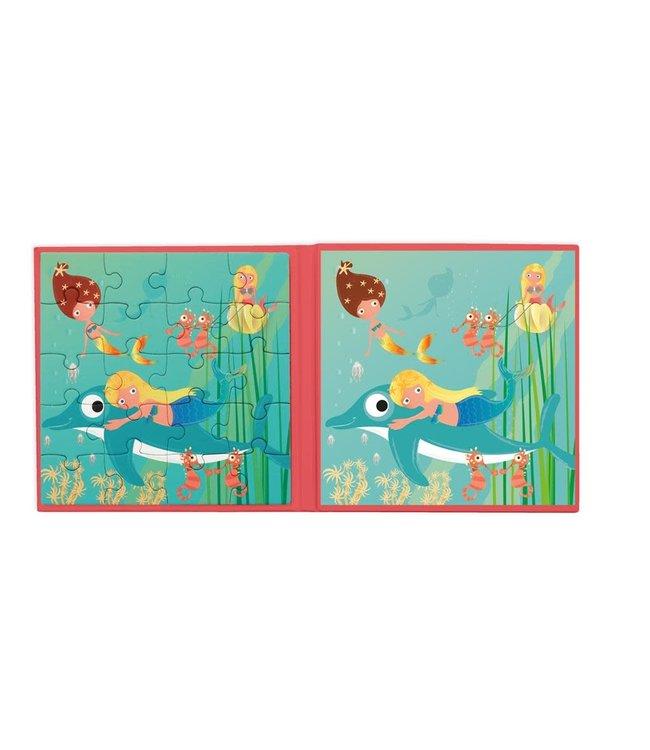 Scratch To Go Magnetisch Puzzelboek Zeemeermin 18 cm 3+