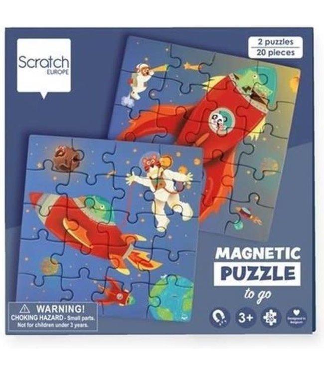 Scratch To Go Magnetisch Puzzelboek Ruimte 18 cm 3+