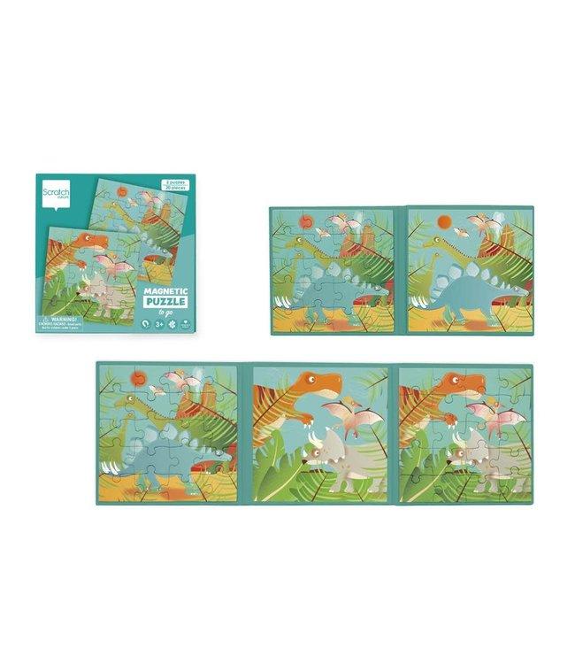 Scratch To Go Magnetisch Puzzelboek Dino 18 cm 3+