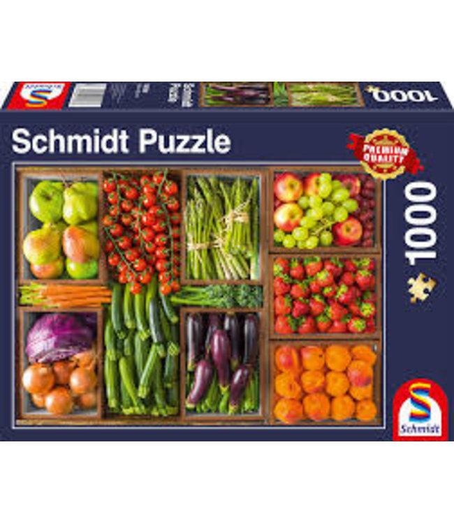 Schmidt Puzzel Vers van de Markt 1000 stukjes