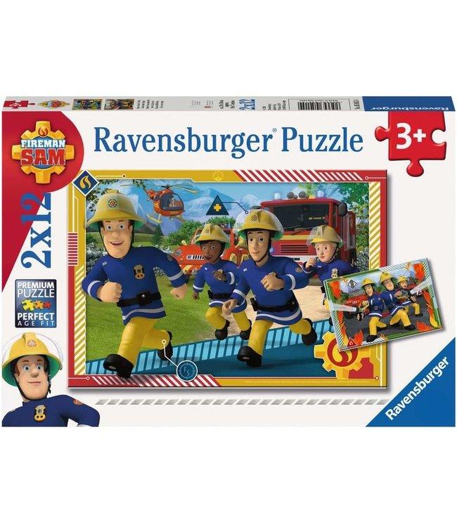 Ravensburger Puzzel 2x12 stukjes Sam en zijn Team 3+