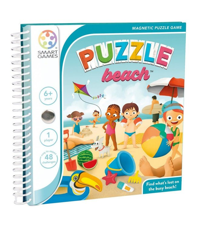 Smartgames | Magnetic Travel Game | Puzzle Beach | 6+