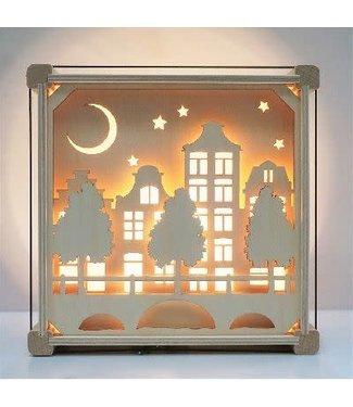 Het Houtlokael Nachtlampje ZONDER naam  | Op Straat
