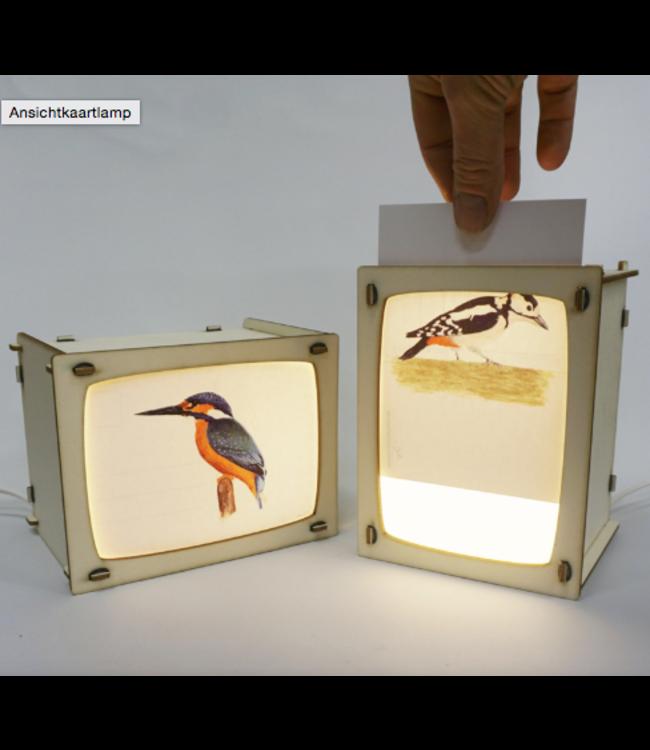 Het Houtlokael Houten Lampje voor Postkaart of Foto
