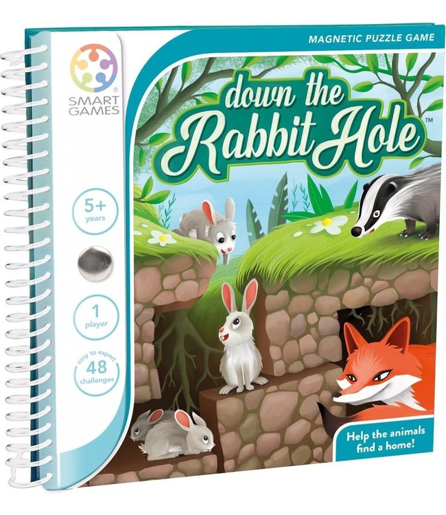Smartgames Magnetic Travel Game Down The Rabbit Hole 5+
