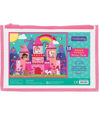 Mudpuppy Mudpuppy Pouch Puzzles Princess Castle 12 pcs  2+