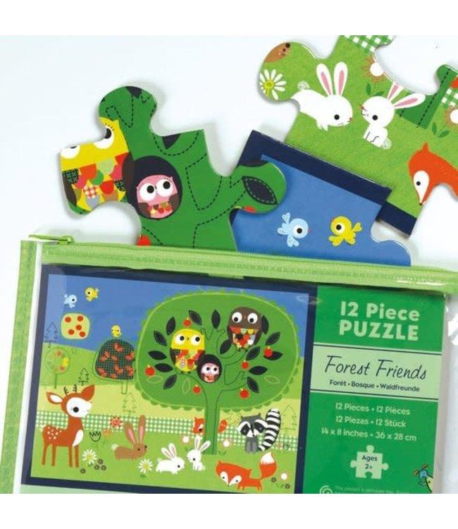 Mudpuppy Pouch Puzzle Forest Friends 12 st  2+