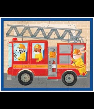 Mudpuppy Mudpuppy Pouch Puzzle Fire Truck 12 pcs 2+