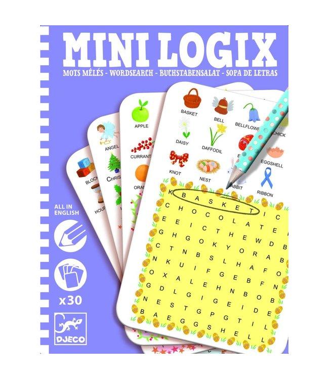 Djeco Mini Logix Wordsearch English 6+