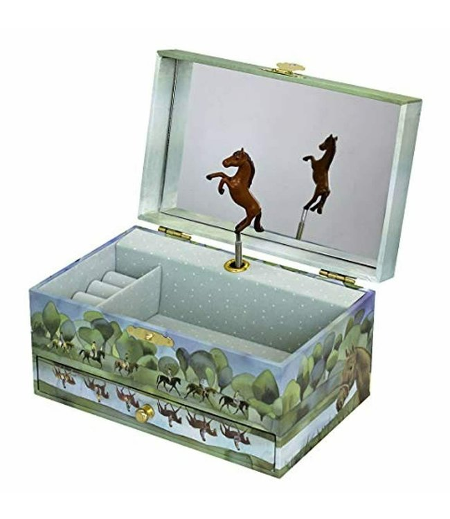 Trousselier | Musical Jewellery Box | Horses Normandy
