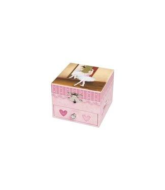 Trousselier Trousselier Musical Cube Box Dancer In Tutu - Pink