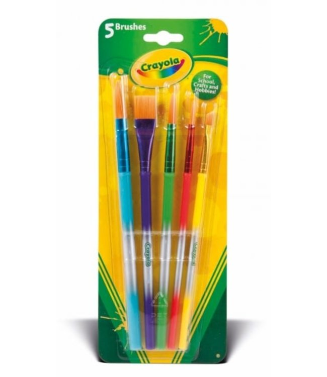 Crayola 5 Verfpenselen 3+