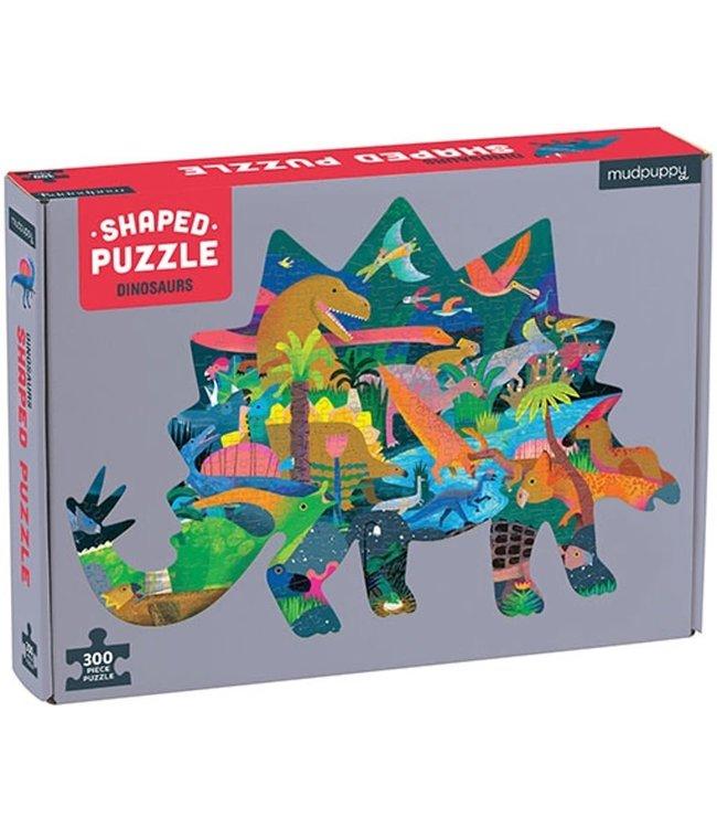 Mudpuppy Shaped Puzzle Dinosaurs 300 pcs 7+