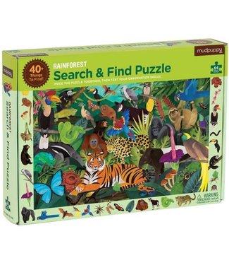 Mudpuppy Mudpuppy Search & Find Puzzle Rainforest 64 pcs 4+