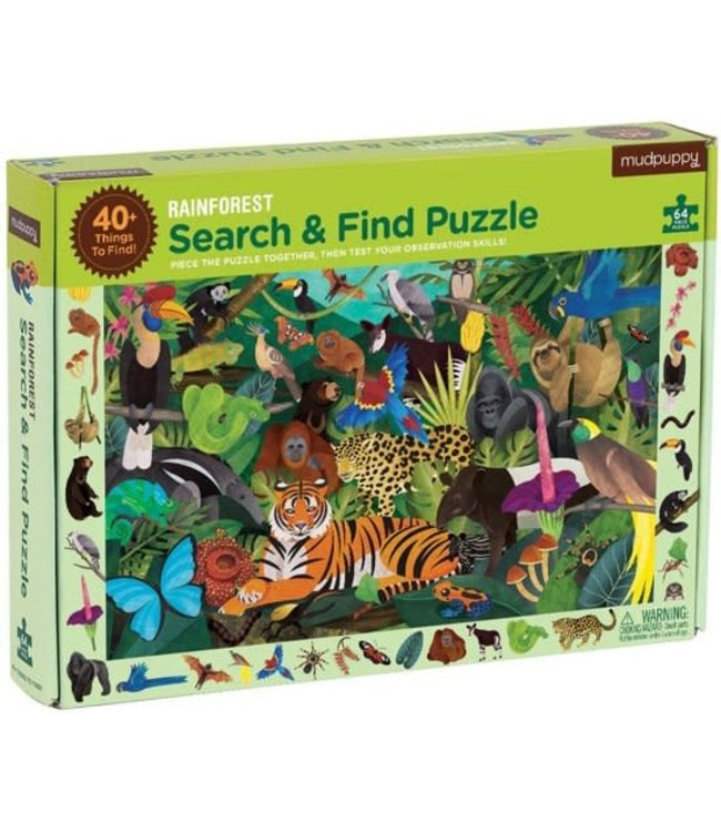 Mudpuppy | Puzzle | Search & Find | Rainforest | 64 delig | 4+