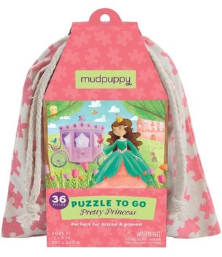 Mudpuppy Mudpuppy Puzzle To Go Pretty Princess  36 pcs  3+