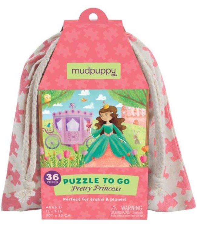 Mudpuppy Puzzle To Go Pretty Princess  36 pcs  3+