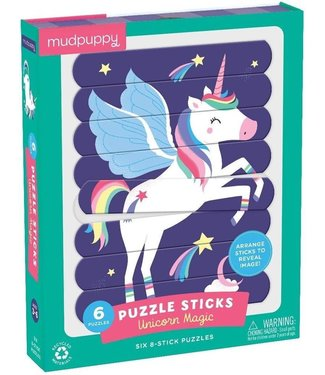 Mudpuppy Mudpuppy | Puzzle Sticks | Unicorn Magic | 24 delig | 3+