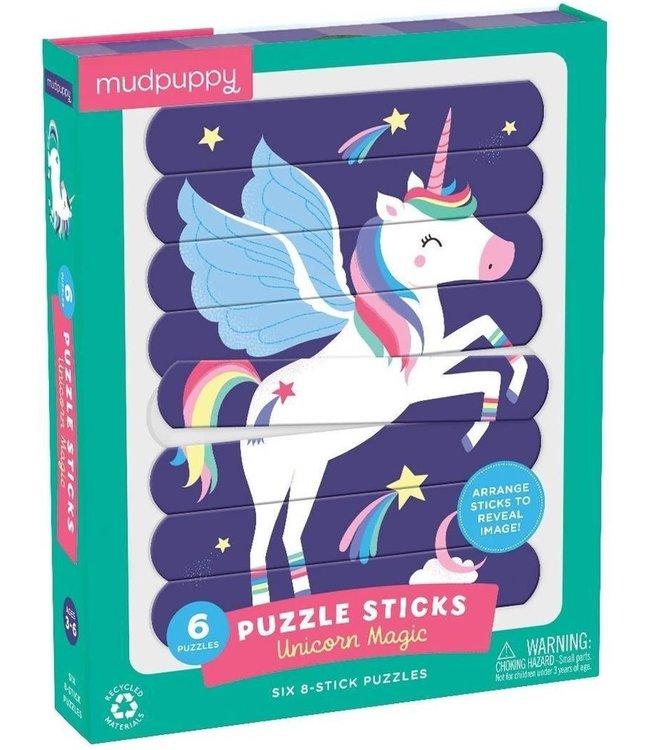 Mudpuppy   Puzzle Sticks   Unicorn Magic   24 delig   3+